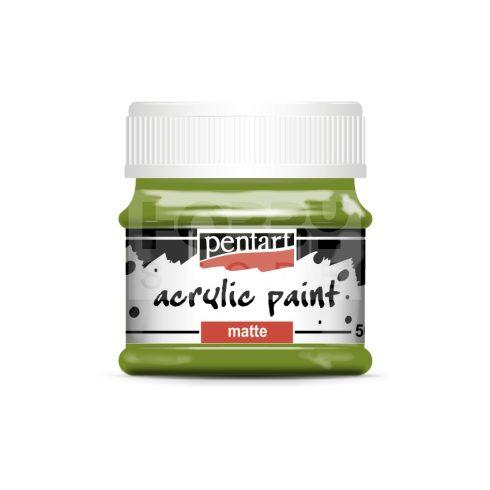 Pentart Matt oliva színű akril bázisú hobbi festék 50 ml 113