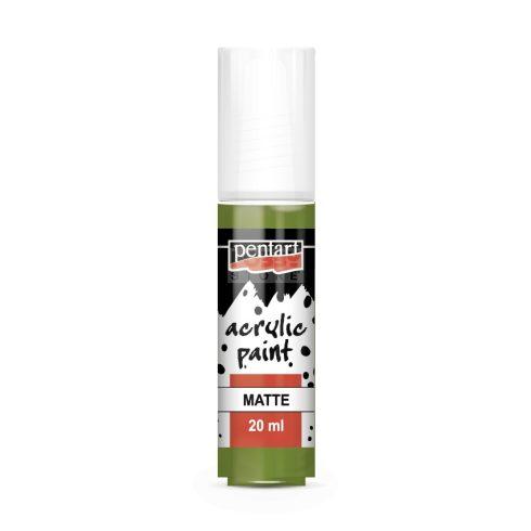 Pentart Matt oliva színű akrilfesték - hobbi festék 20 ml 117