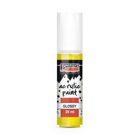 Pentart Fényes sárga színű akril bázisú hobbi festék 20 ml