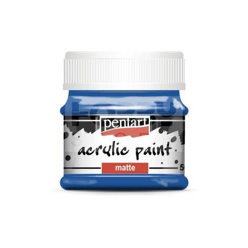 Pentart Matt kék színű akril bázisú hobbi festék 50 ml 1227