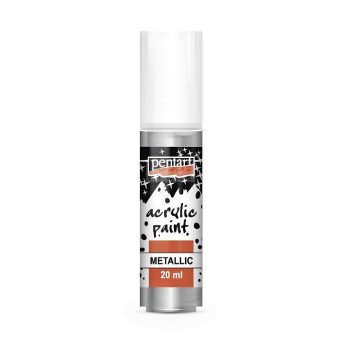 Pentart Metál rokokóezüst színű akril bázisú hobbi festék 20 ml