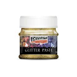 Pentart Glitterpaszta közepes lézerarany 50 ml 13048
