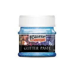 Pentart Glitterpaszta finom llézer világoskék 50 ml 13054