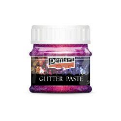 Pentart Glitterpaszta finom lézerpink 50 ml 13056