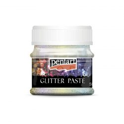 Pentart Glitterpaszta finom szivárvány 50 ml 13060