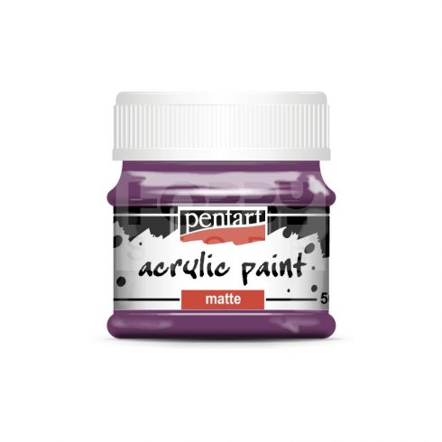Pentart Matt lila színű akril bázisú hobbi festék 50 ml 1309