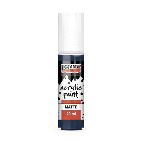 Pentart Matt indigókék színű akril bázisú hobbi festék 20 ml 13119