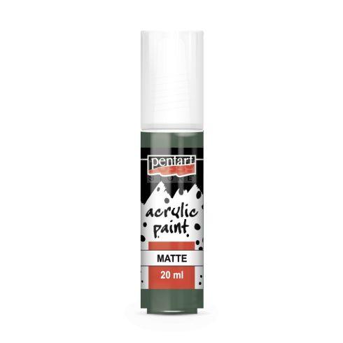 Pentart Matt kekizöld színű akrilfesték - hobbi festék 20 ml 13121