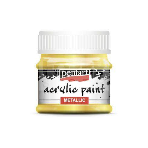 Pentart Metál barokkarany színű akrilfesték - hobbi festék 50 ml 13141