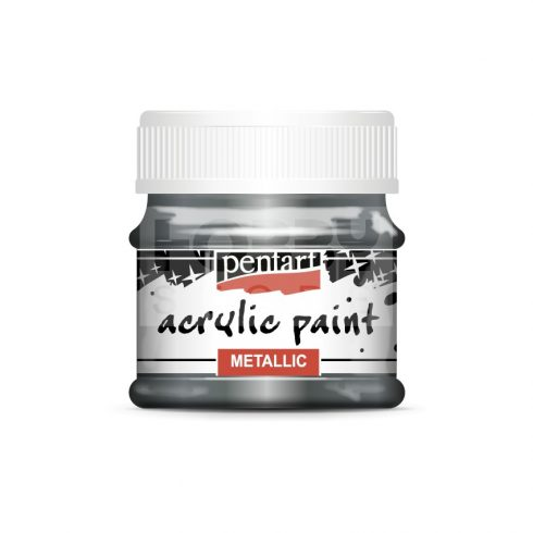 Pentart Metál rokokóezüst színű akril bázisú hobbi festék 50 ml