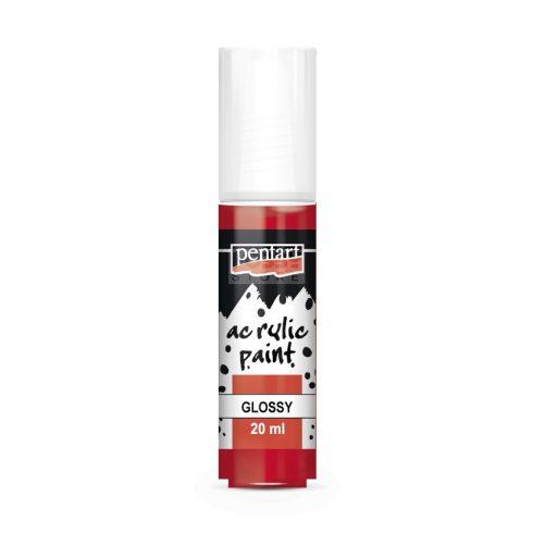 Pentart Fényes rúzspiros színű akril bázisú hobbi festék 20 ml