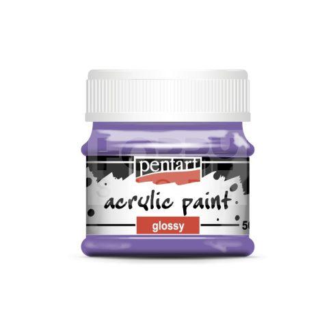 Pentart Fényes ibolyalila színű akril bázisú hobbi festék 50 ml