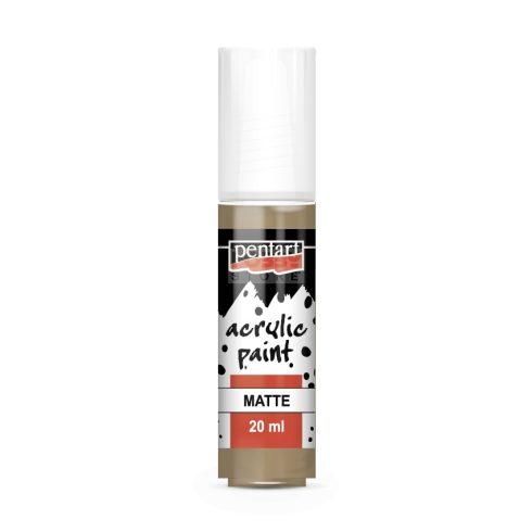 Pentart Matt mogyoró színű akril bázisú hobbi festék 20 ml 14104