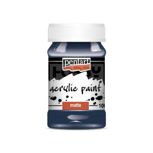 Pentart Matt indigókék színű akril bázisú hobbi festék 100 ml 16151