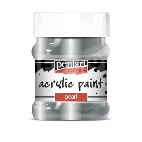 Pentart Metál rokokóezüst színű akril bázisú hobbi festék 230 ml