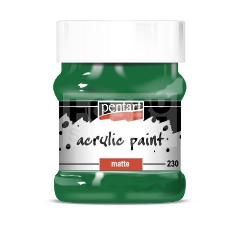 Pentart Matt zöld színű akril bázisú hobbi festék 230 ml 17550