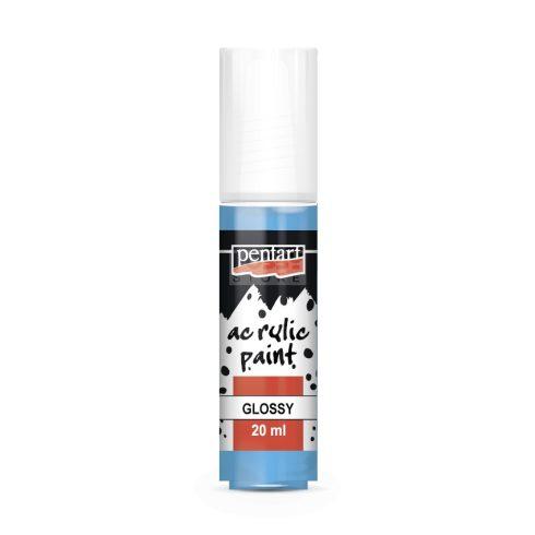 Pentart Fényes világoskék színű akril bázisú hobbi festék 20 ml