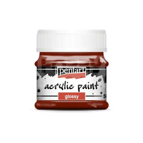 Pentart Fényes bordó színű akril bázisú hobbi festék 50 ml