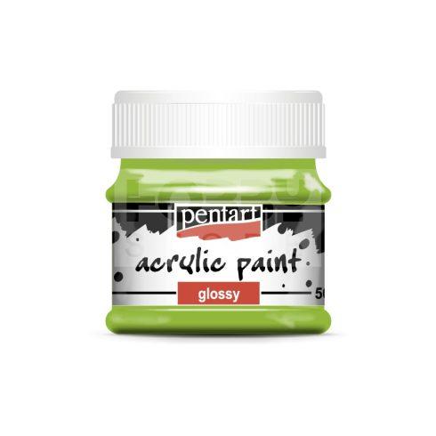 Pentart Fényes almazöld színű akril bázisú hobbi festék 50 ml