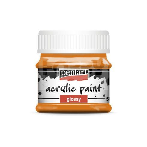 Pentart Fényes narancs színű akril bázisú hobbi festék 50 ml