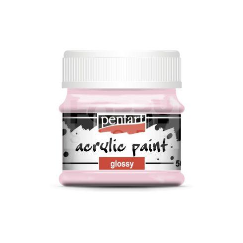 Pentart Fényes rózsaszín színű akril bázisú hobbi festék 50 ml