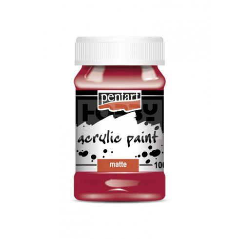 Pentart Matt vörösbor színű akril bázisú hobbi festék 100 ml 1987