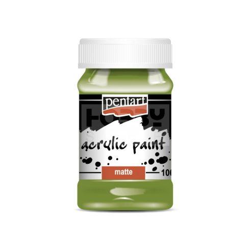 Pentart Matt oliva színű akril bázisú hobbi festék 100 ml 1990