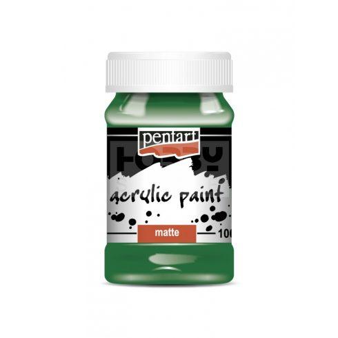 Pentart Matt zöld színű akril bázisú hobbi festék 100 ml 1994