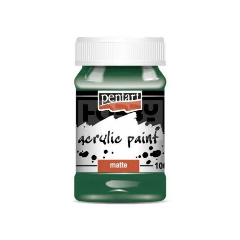 Pentart Matt fenyőzöld színű akril bázisú hobbi festék 100 ml 1995