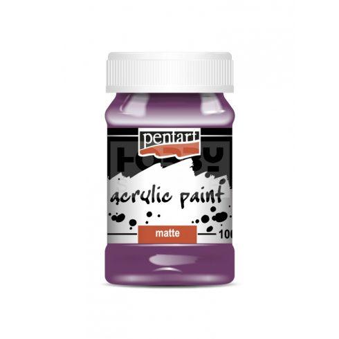 Pentart Matt lila színű akril bázisú hobbi festék 100 ml 2005