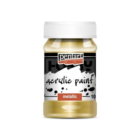 Pentart Metál arany színű akril bázisú hobbi festék 100 ml