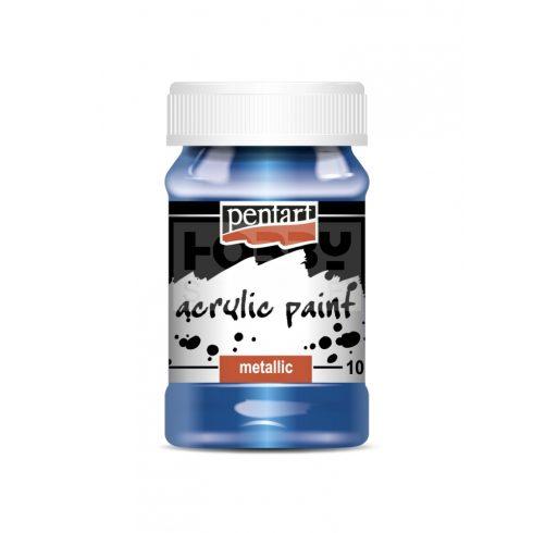 Pentart Metál kék színű akril bázisú hobbi festék 100 ml