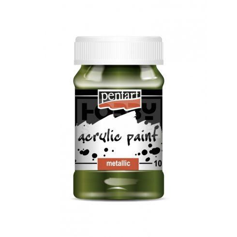 Pentart Metál zöld színű akril bázisú hobbi festék 100 ml