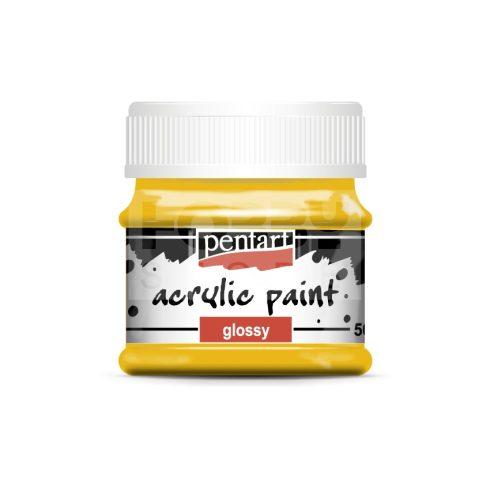 Pentart Fényes napsárga színű akril bázisú hobbi festék 50 ml