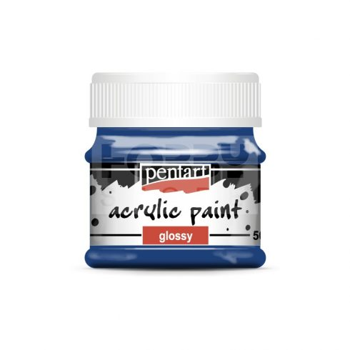 Pentart Fényes sötétkék színű akril bázisú hobbi festék 50 ml