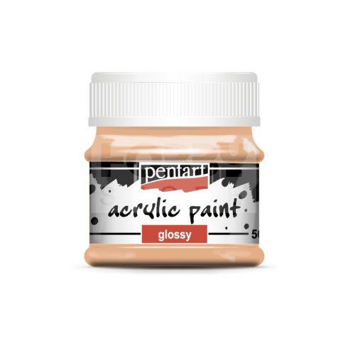 Pentart Fényes lazac színű akril bázisú hobbi festék 50 ml