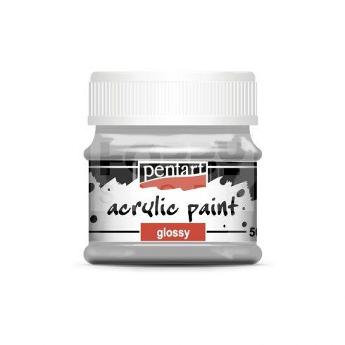 Pentart Fényes szürke színű akril bázisú hobbi festék 50 ml