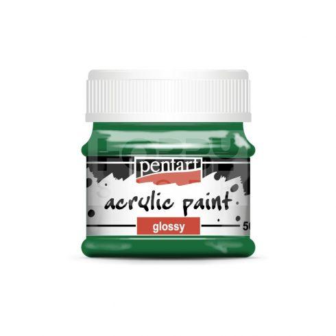 Pentart Fényes fenyőzöld színű akril bázisú hobbi festék 50 ml