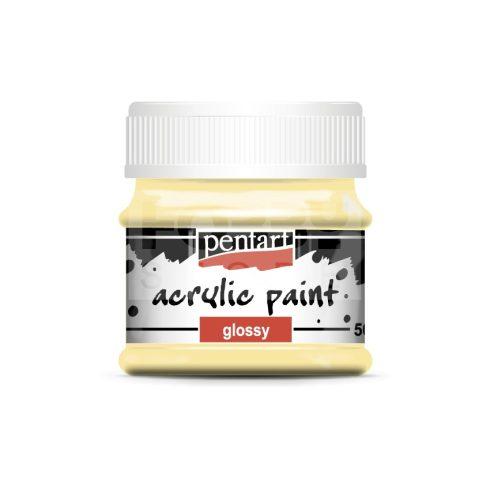 Pentart Fényes tejeskávé színű akril bázisú hobbi festék 50 ml