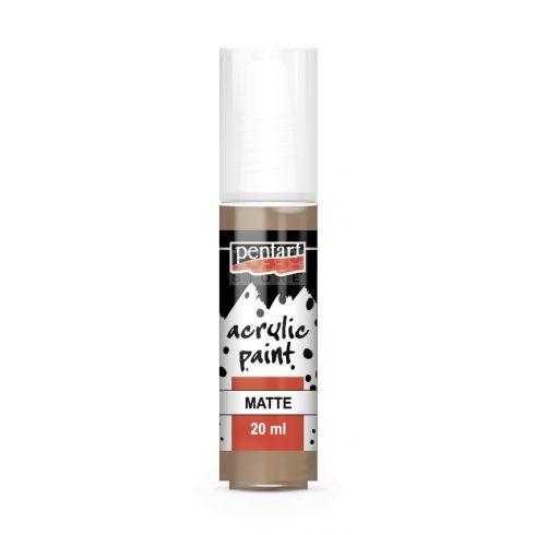 Pentart Matt sötéthomok színű akrilfesték - hobbi festék 20 ml 20970