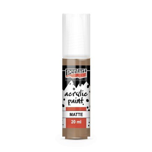 Pentart Matt Mars barna színű akrilfesték - hobbi festék 20 ml 20972