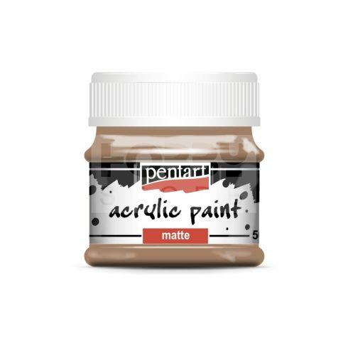 Pentart Matt Mars barna színű akril bázisú hobbi festék 50 ml 20988
