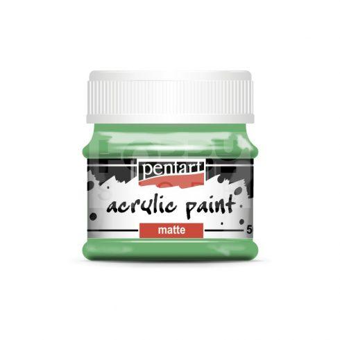 Pentart Matt papagájzöld színű akril bázisú hobbi festék 50 ml 20995