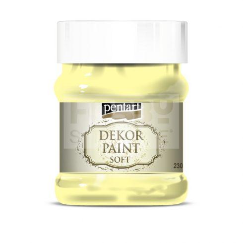 Pentart Dekorfesték lágy (chalky) sárga 230 ml 21484