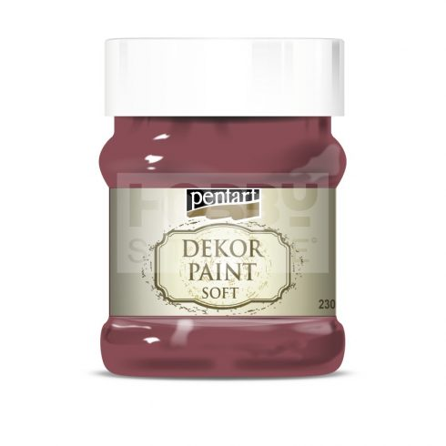 Pentart Dekorfesték lágy (chalky) burgundi vörös 230 ml 21487