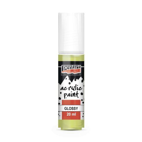 Pentart Fényes limezöld színű akril bázisú hobbi festék 20 ml