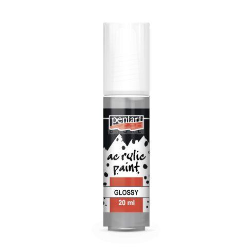 Pentart Fényes szürke színű akril bázisú hobbi festék 20 ml