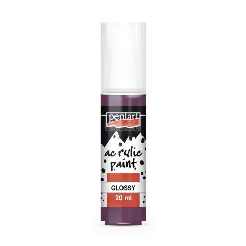 Pentart Fényes lila színű akril bázisú hobbi festék 20 ml