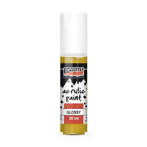 Pentart Fényes okker színű akril bázisú hobbi festék 20 ml