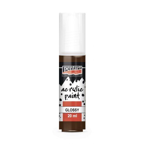 Pentart Fényes sötétbarna színű akril bázisú hobbi festék 20 ml